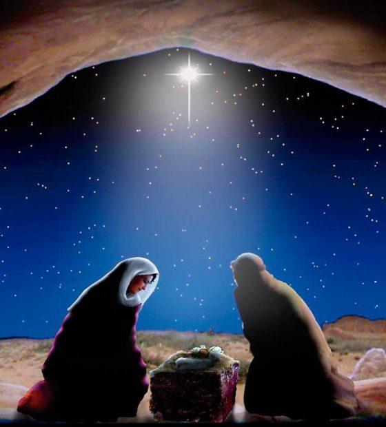 Num repente, Jesus chegou!