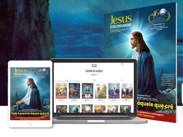 Religião Divina lança edição 138 digital da revista JESUS ESTÁ CHEGANDO!