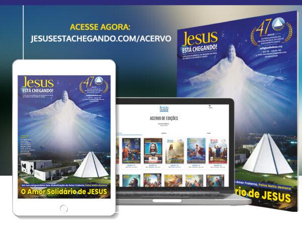 Religião Divina lança edição 140 da revista JESUS ESTÁ CHEGANDO!