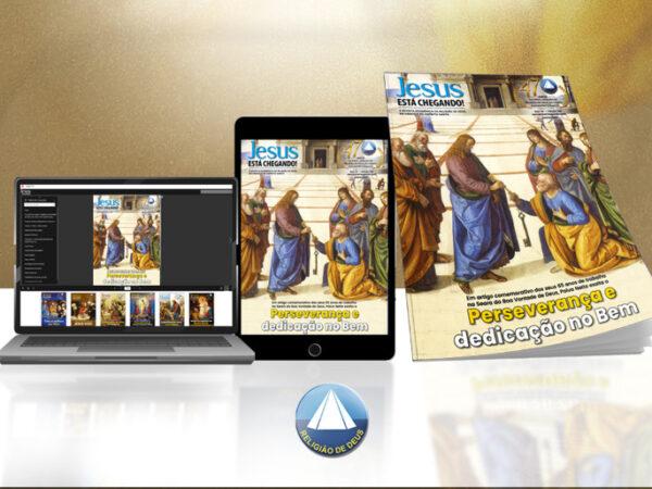 Religião Divina lança a edição 148 da revista JESUS ESTÁ CHEGANDO!, comemorativa dos 65 anos de trabalho de Paiva Netto na Seara da Boa Vontade de Deus
