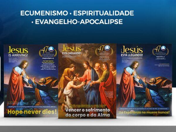 Religião do Terceiro Milênio lança edições da revista JESUS ESTÁ CHEGANDO! em português, espanhol e inglês
